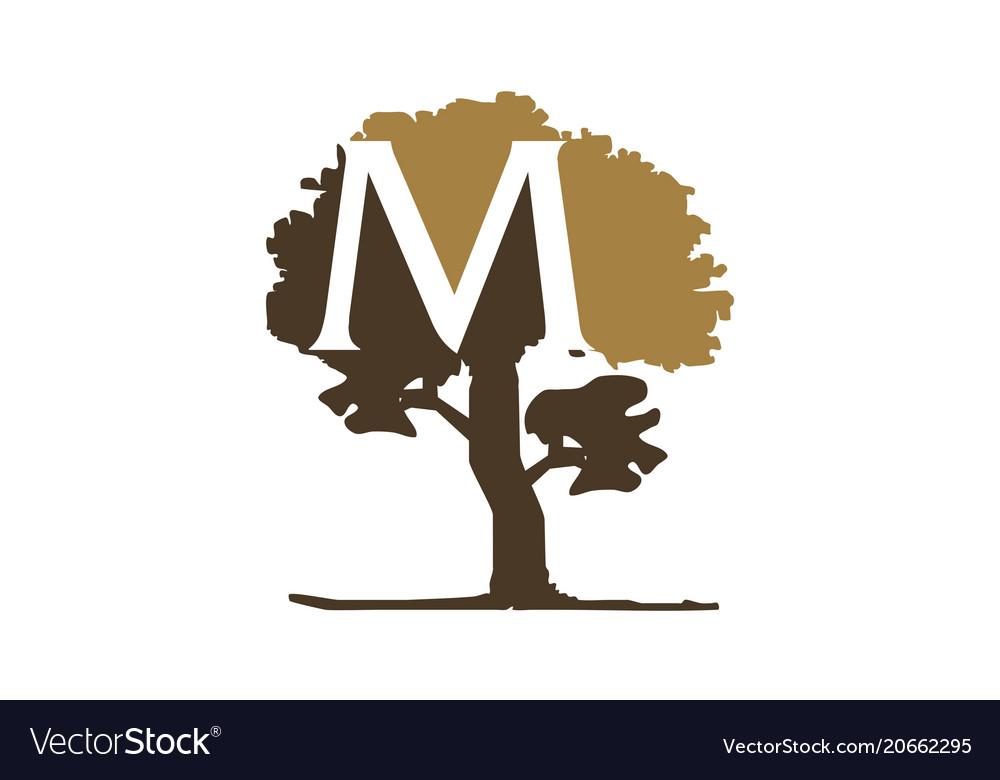 Tree letter m