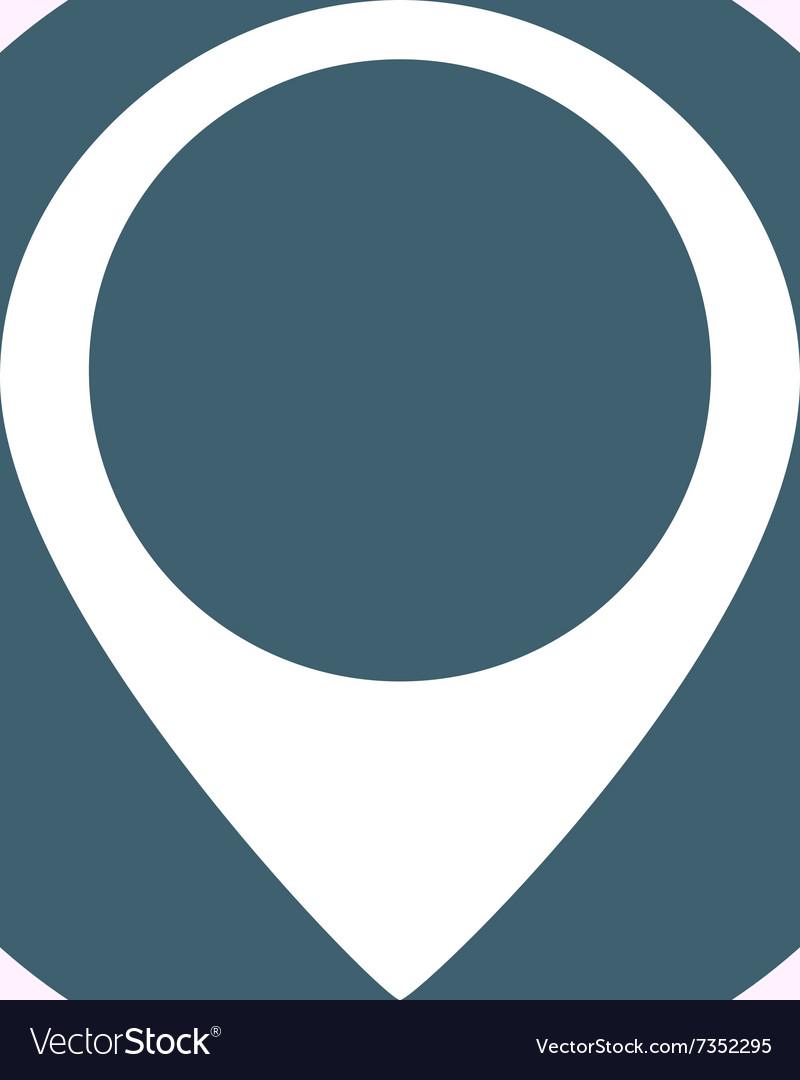 White location icon on blue circle background