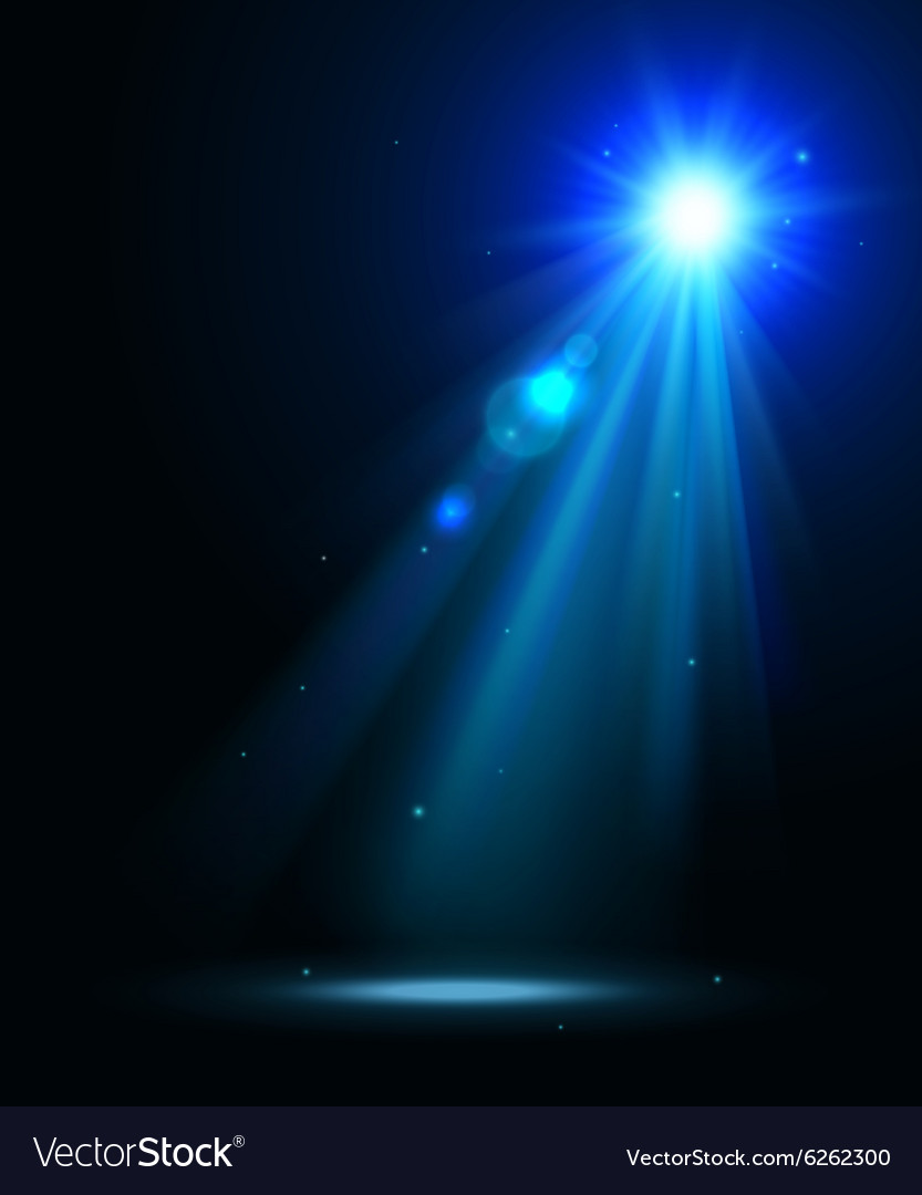 Abstract disco background with blue spot lights