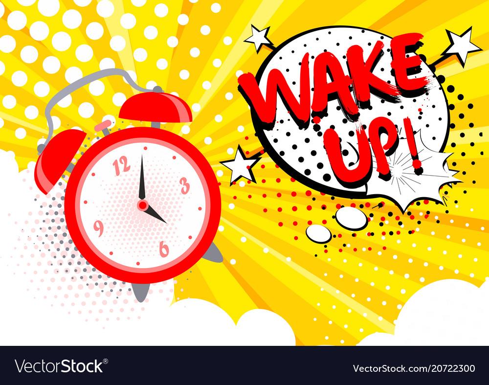 Alarm clock ringing wake