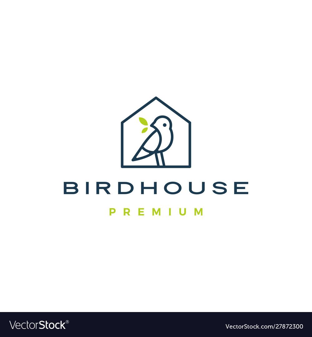 Bird house logo icon