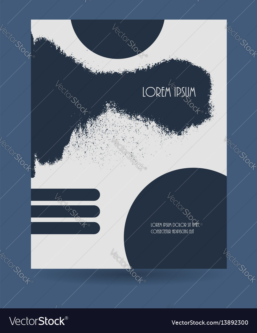 Creative grunge texture booklet vector image
