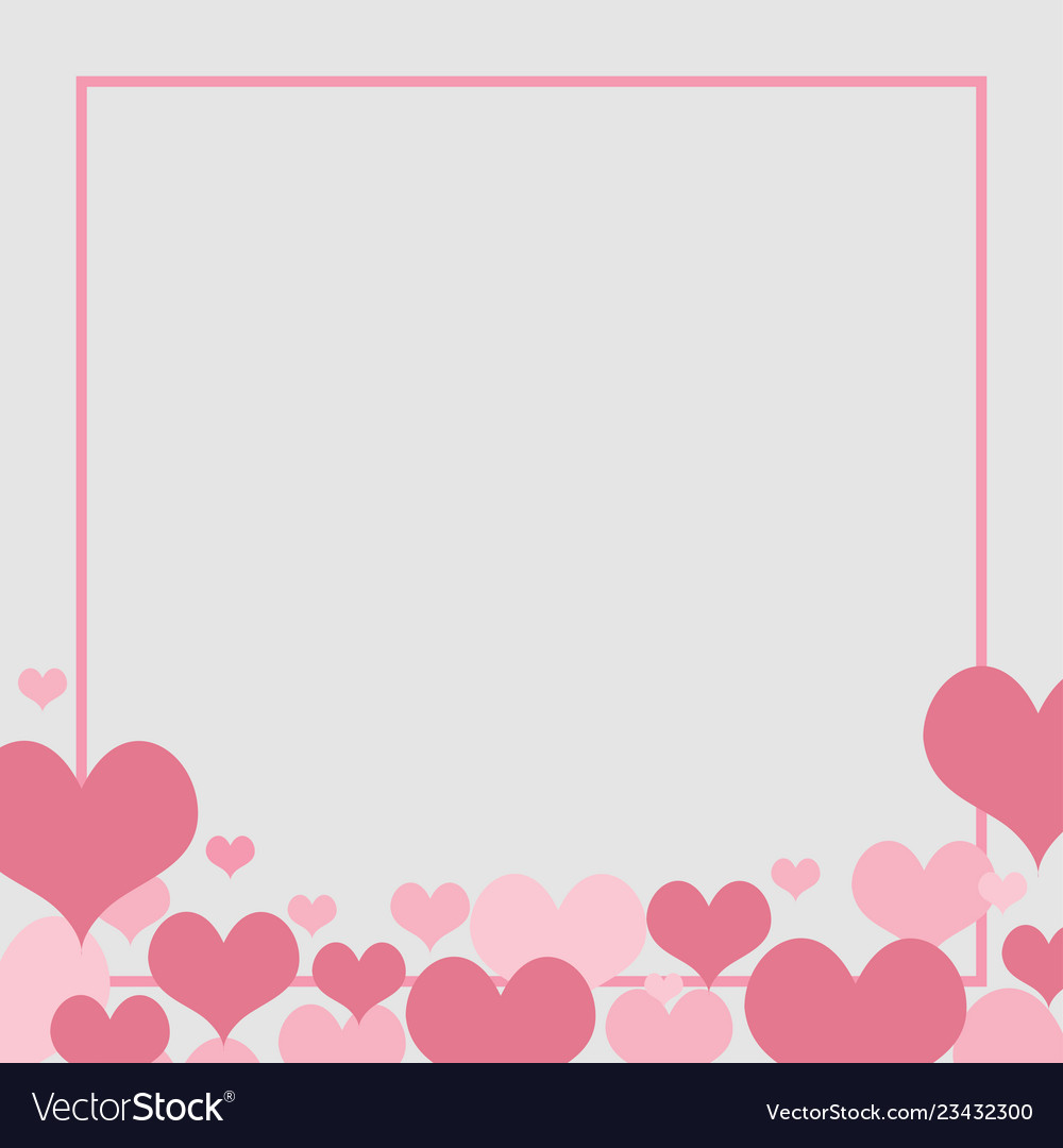 Love Background Element Heart For Wedding Concept Vector Image