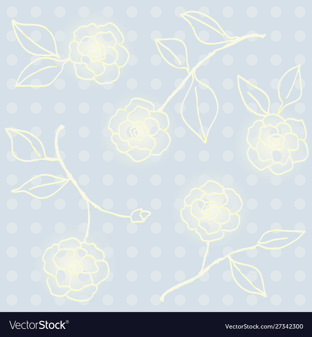 Retro floral seamless wallpaper with flowers
