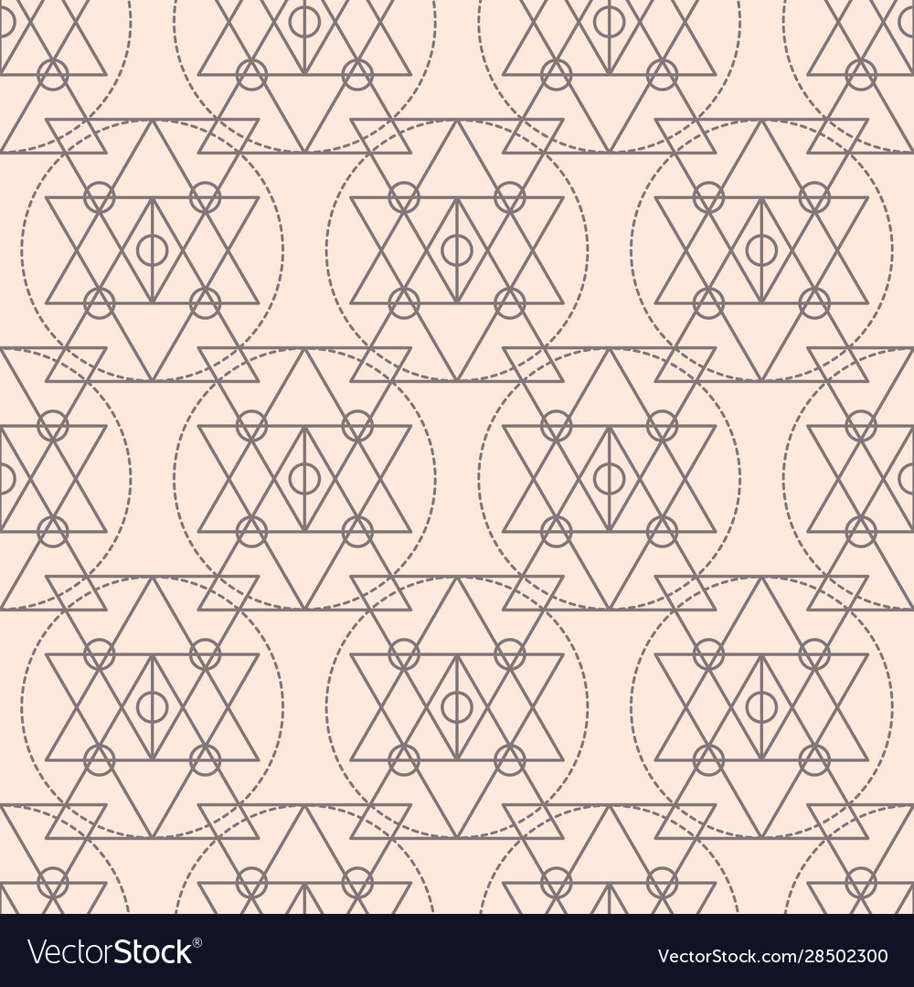 Sacred geometry shapes seamless pattern