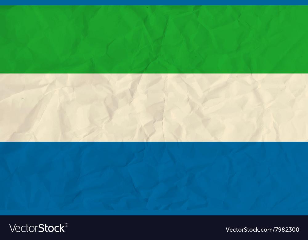 Sierra Leone paper flag