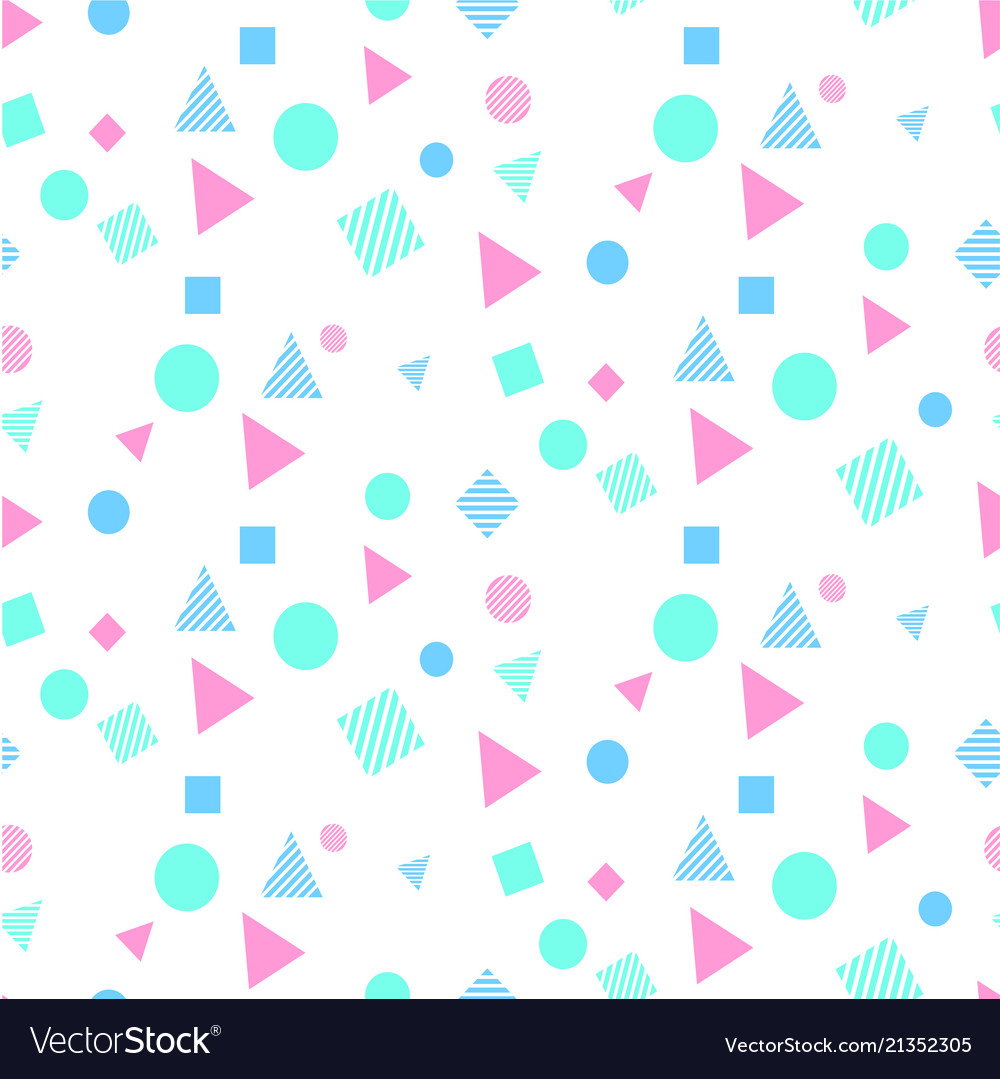 Abstract colorful geometry white pattern im