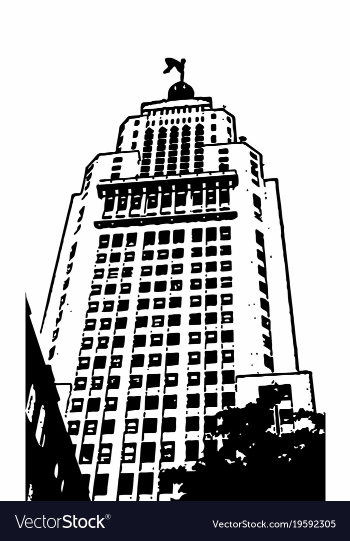 Altino arantes building vector image