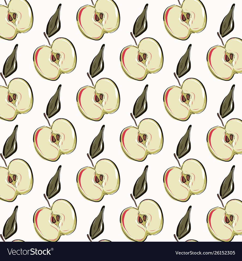 Apple repetition pattern fruit vegetarian organic