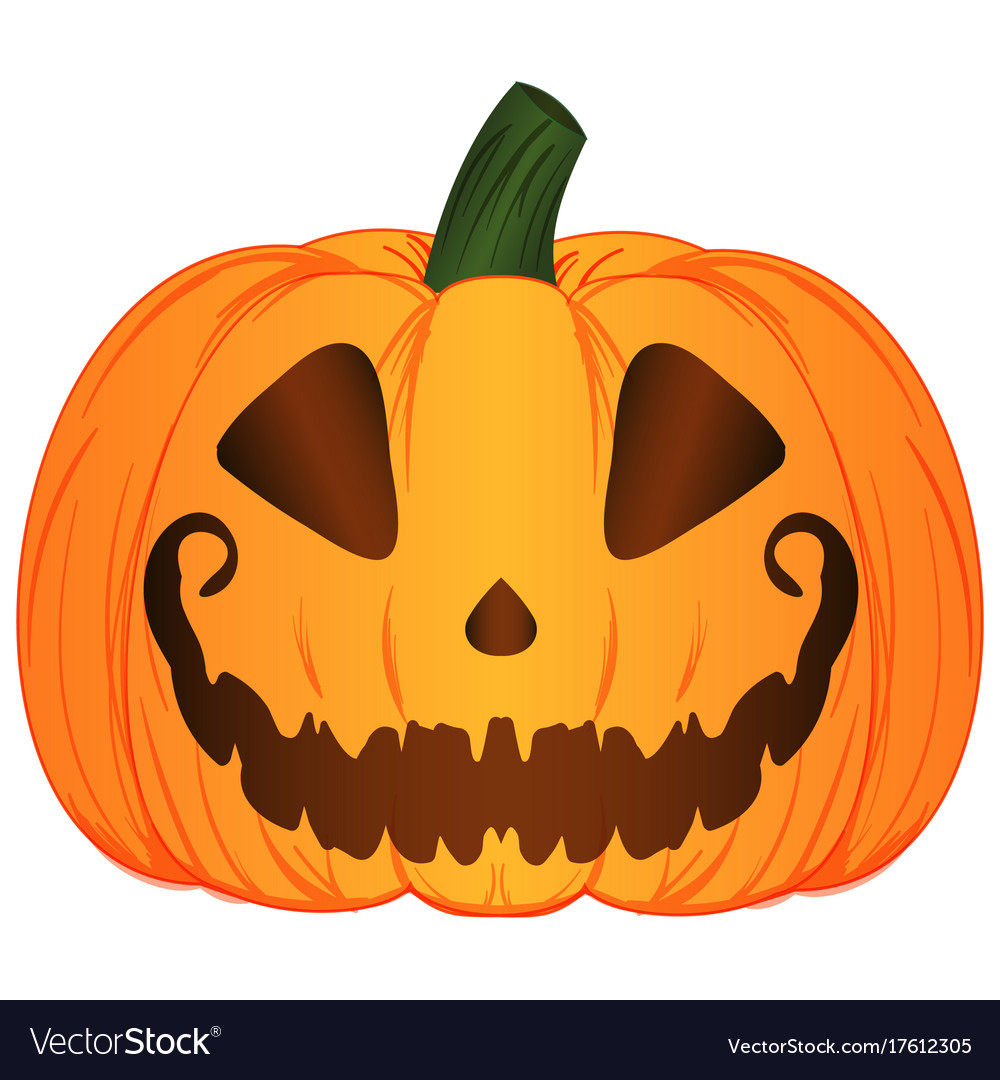 Cartoon jack o lantern pumpkin
