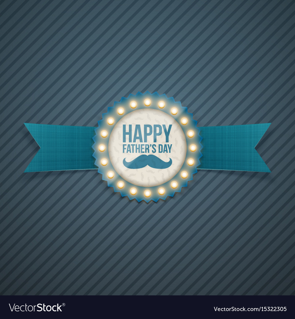 Happy fathers day festive signage template