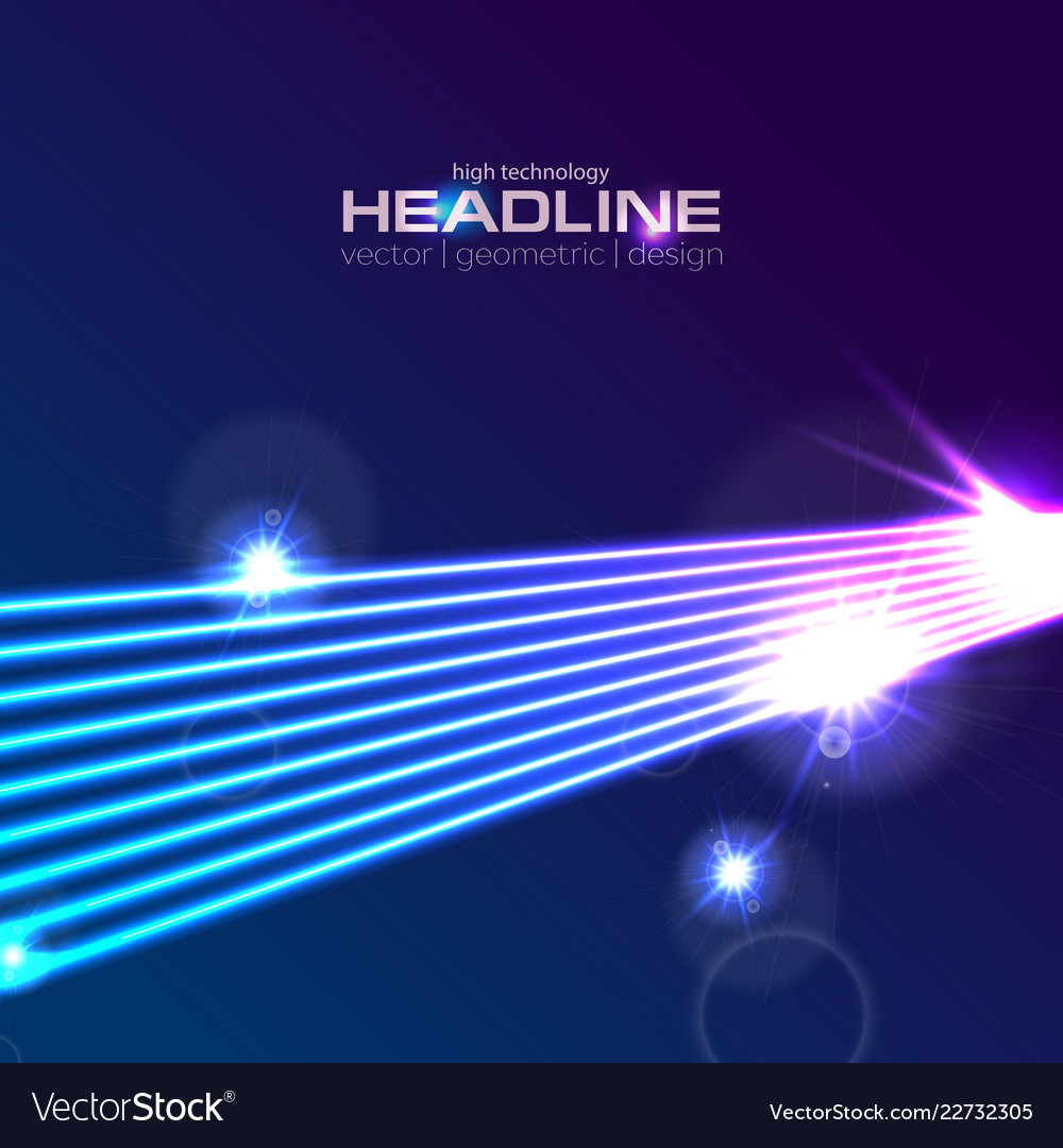 Hi-tech futuristic neon laser rays abstract
