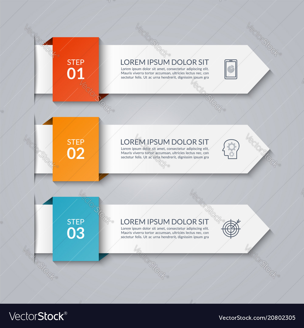 Infographic template in paper style