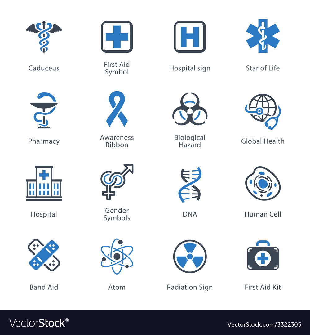 Medical and Health Care Icons Set 1 - Blue Series