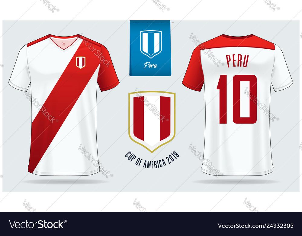 Download Peru Soccer Jersey Or Football Kit Mockup Vector Image Free Mockups
