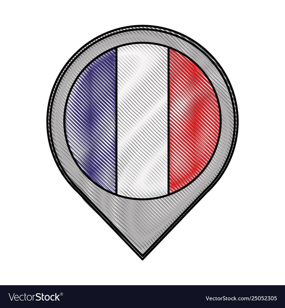Pointer map flag french paris location