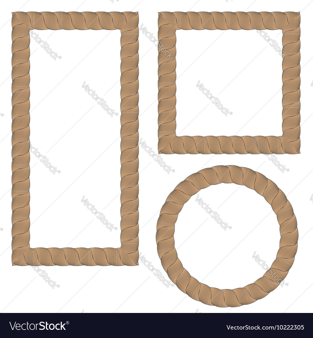Rope Creative Ornamental Frames Royalty Free Vector Image