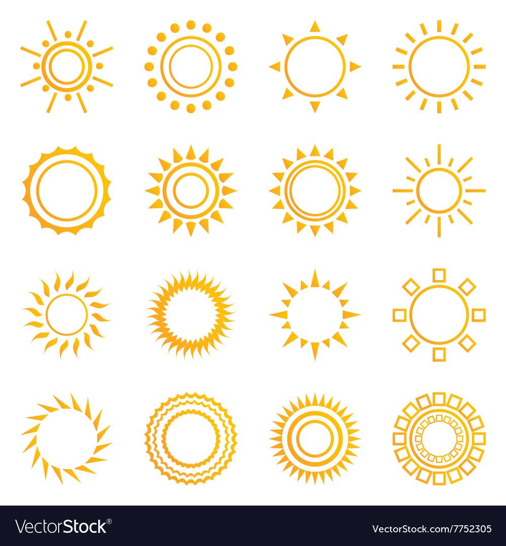 Set of vintage sunburst