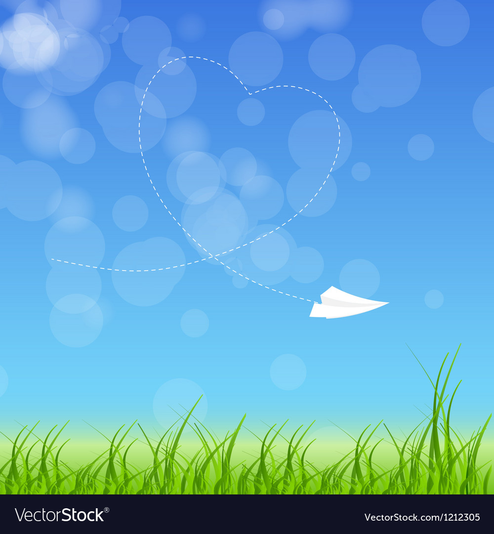 Sign with paper plane and heart vector image