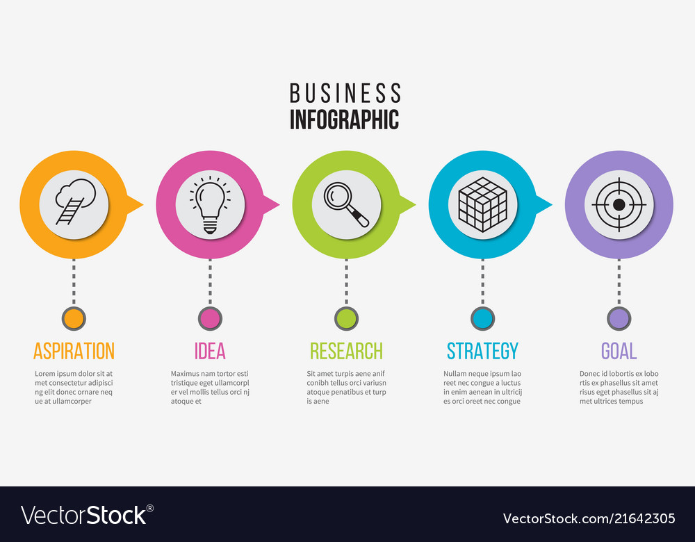 Step infographic process business diagram for