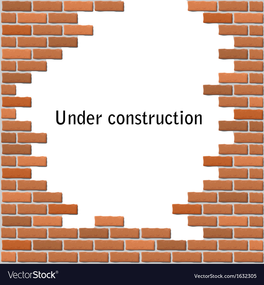 Text frame in broken brick wall