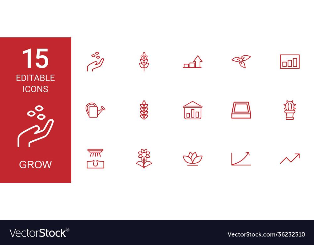 15 grow icons