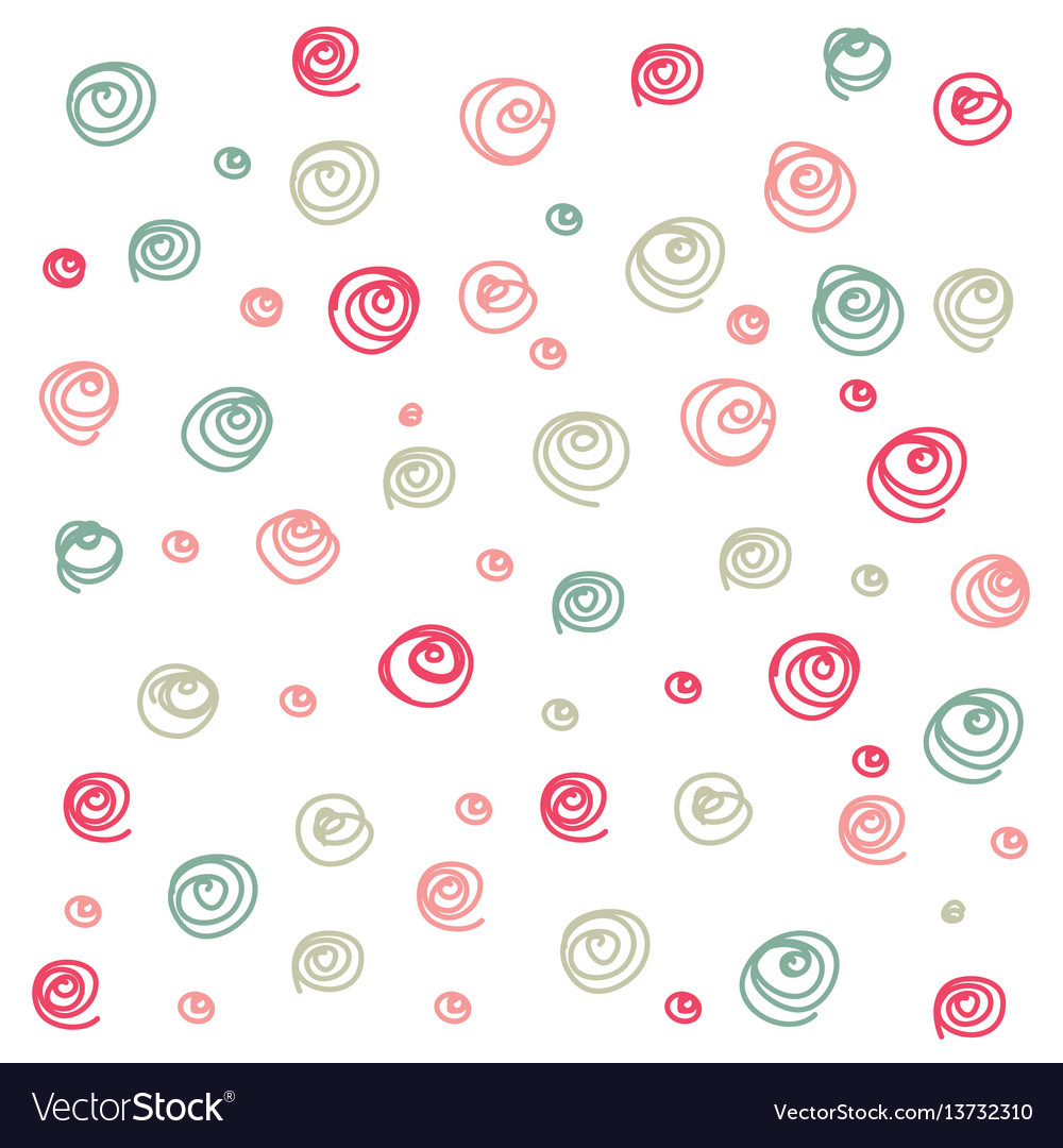 Doodle curl seamless pattern vector image