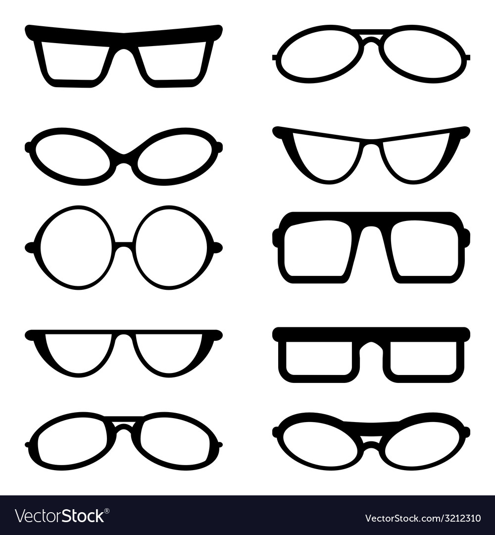 Glasses and Sunglasses silhouettes