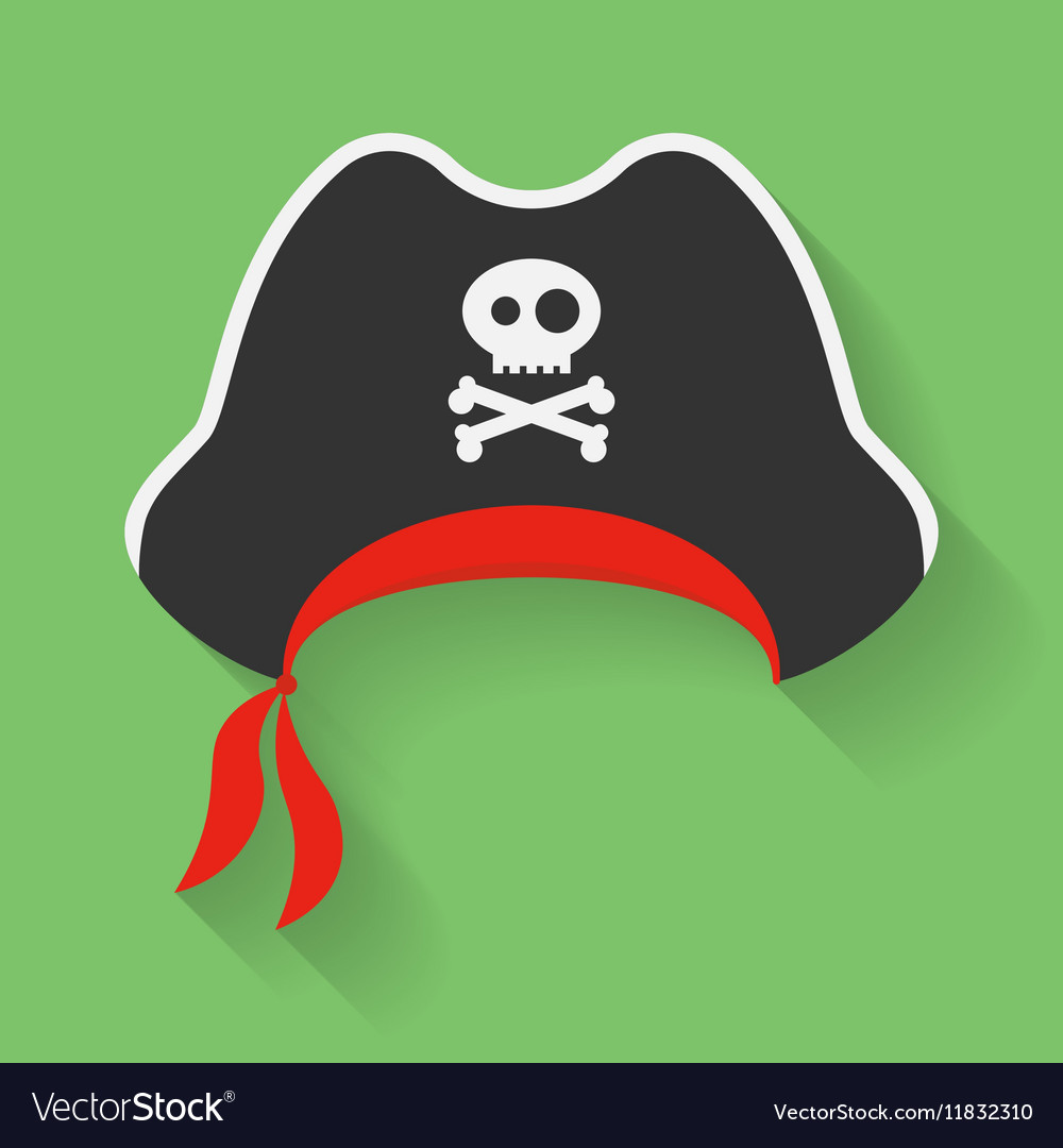 Icon of Pirate Hat with a Jolly Roger symbol