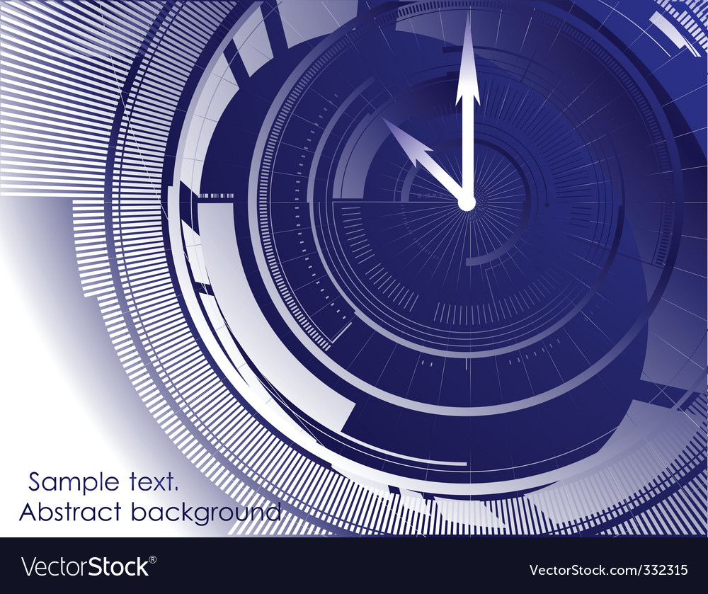 blue background vector. abstract clock lue background
