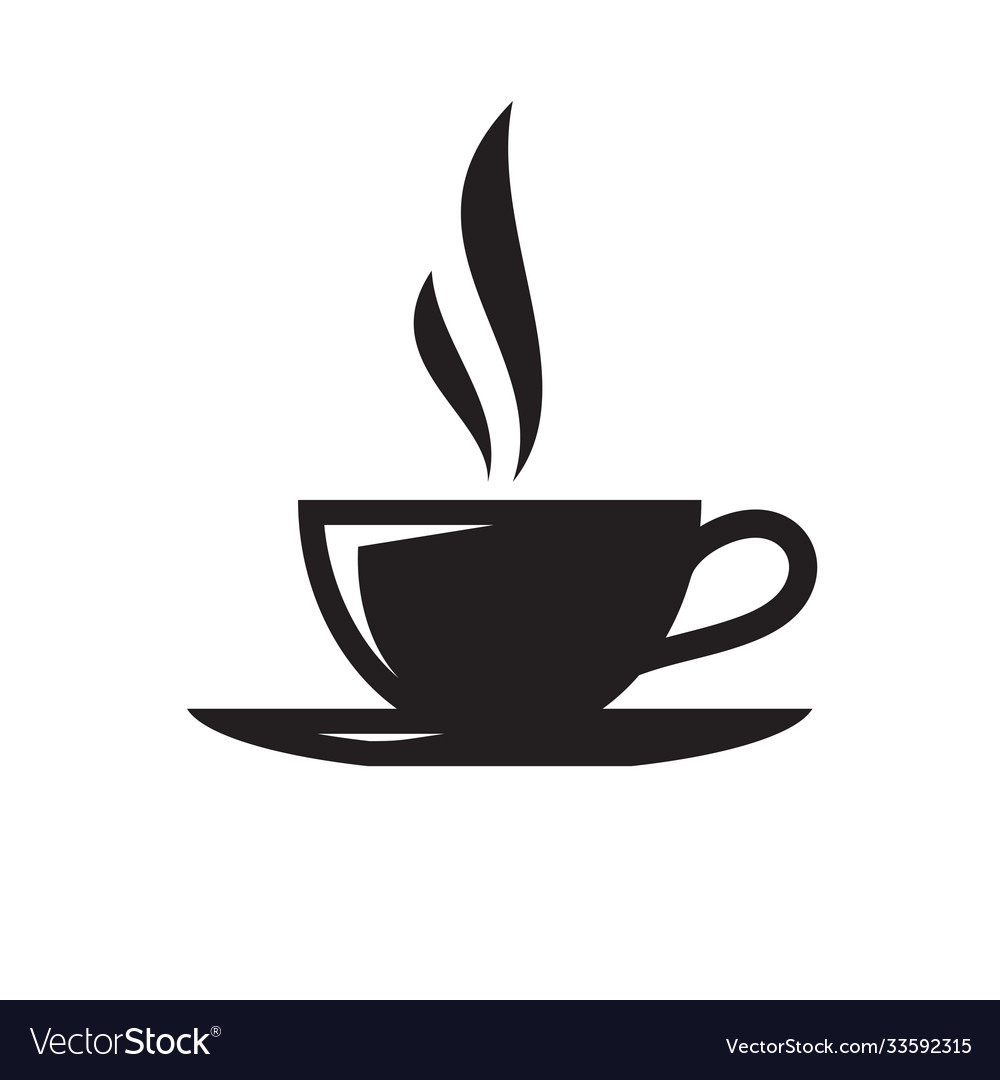 Coffee or tea cup - black icon on white background