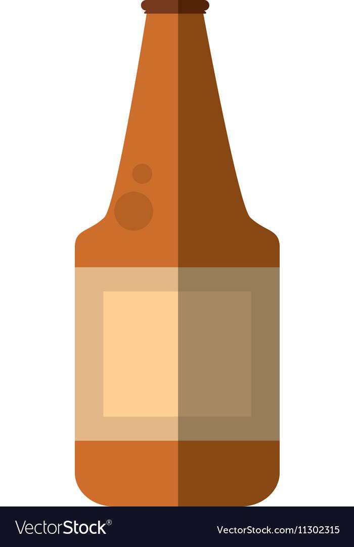 Fresh beer bottle isolated icon