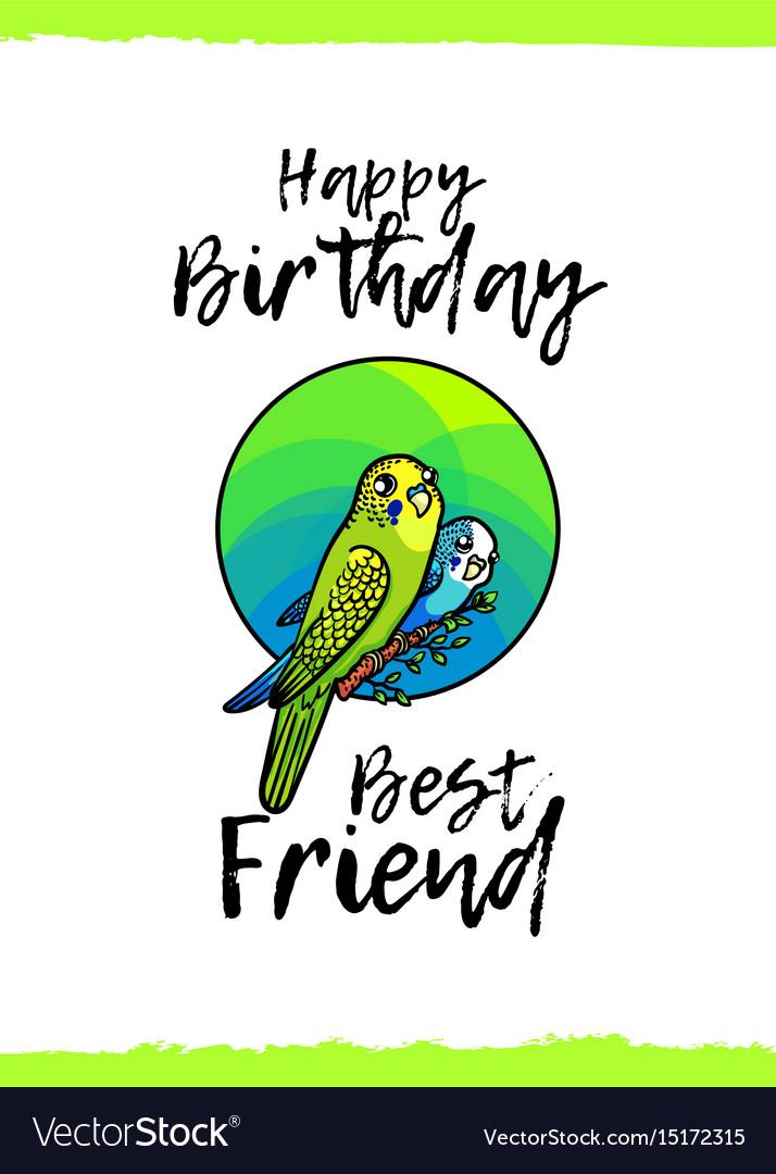 Happy birthday greeting card royalty free vector image happy birthday greeting card vector image m4hsunfo