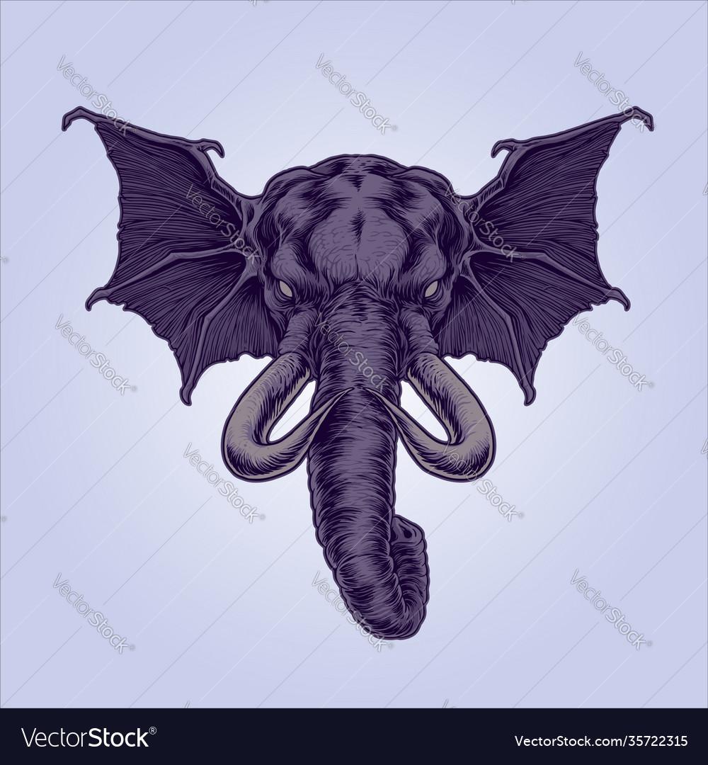 Mythical winged elephant