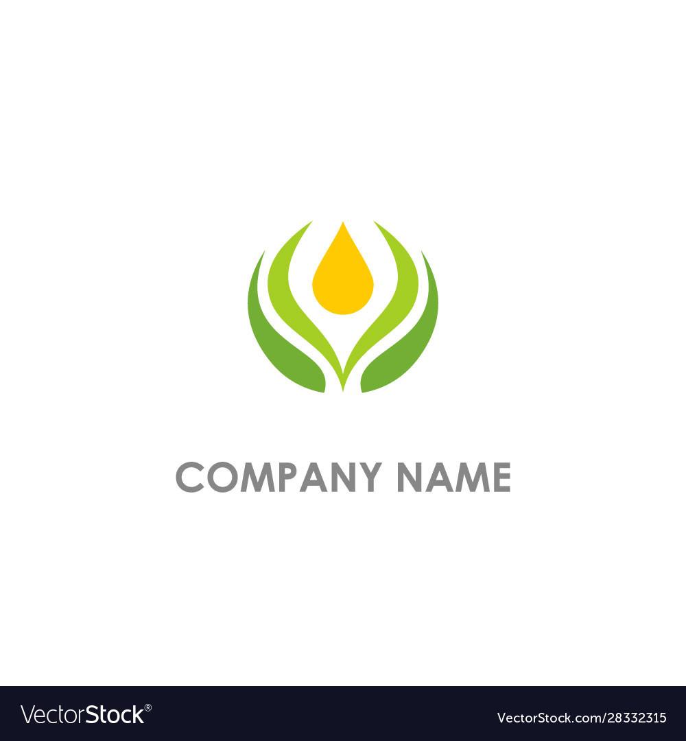 Pure organic bio logo