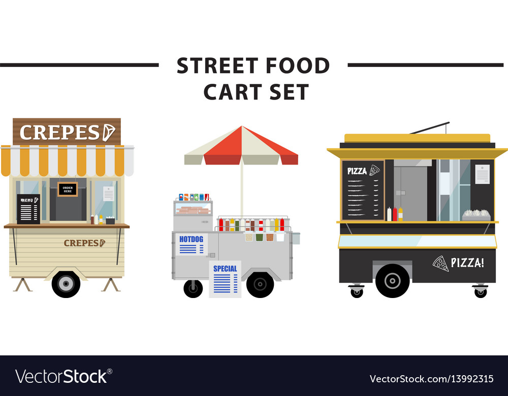 Street food cart set