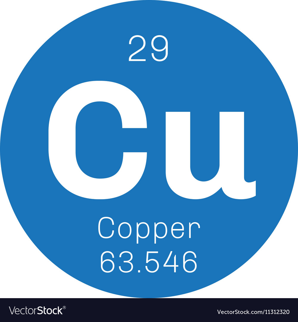 Copper Chemical Element Royalty Free Vector Image