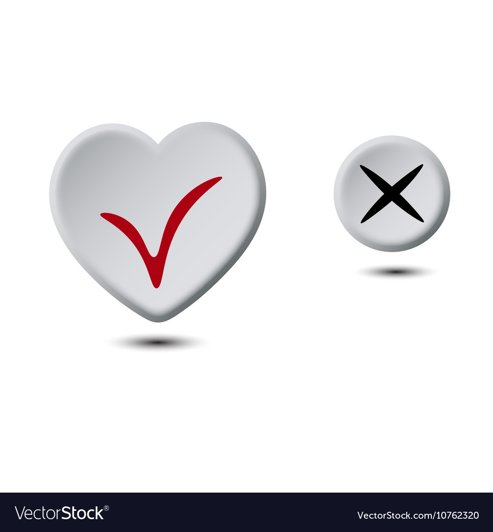 Heart button and circle button