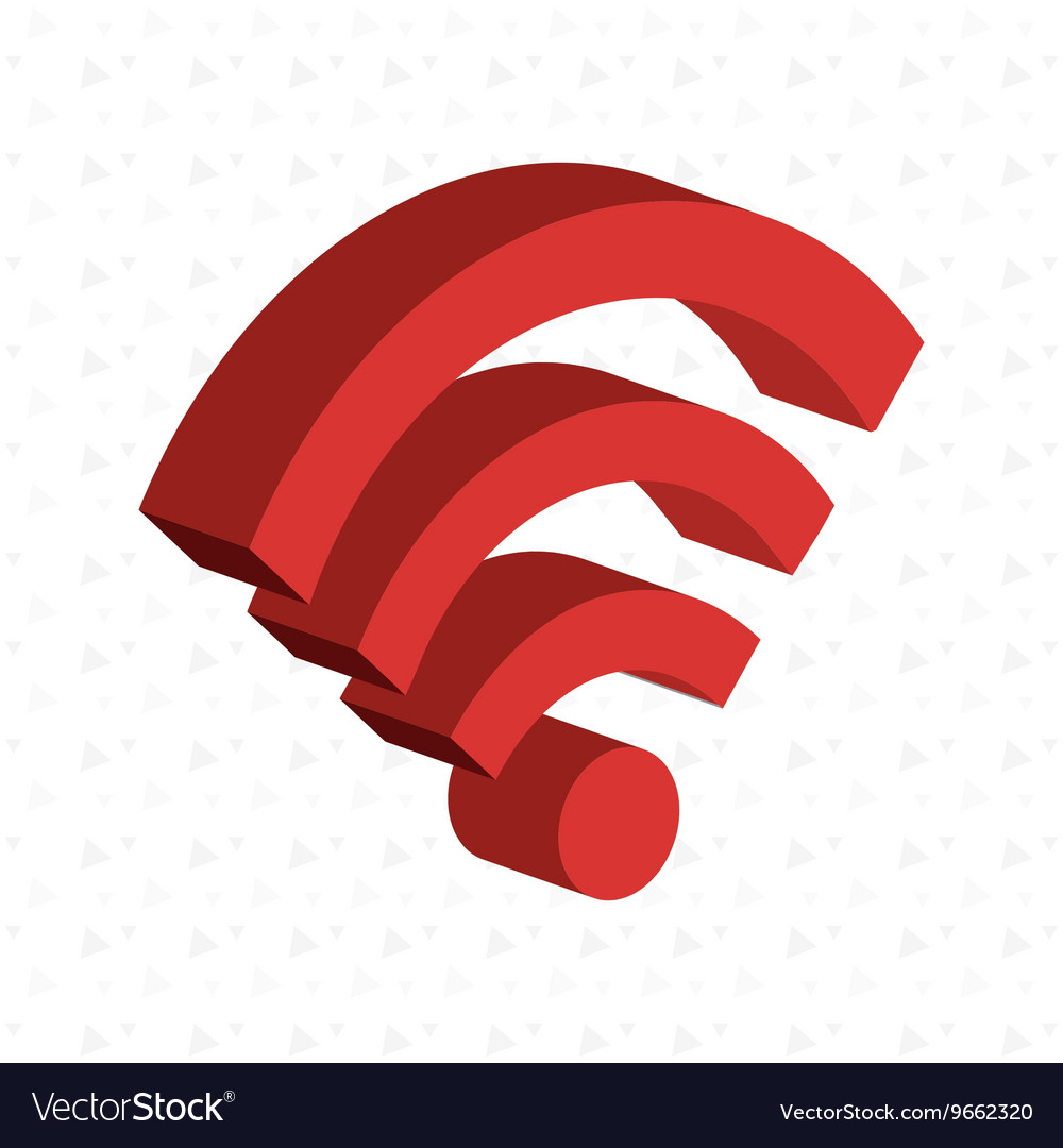 Isometric signal wifi isolated icon design
