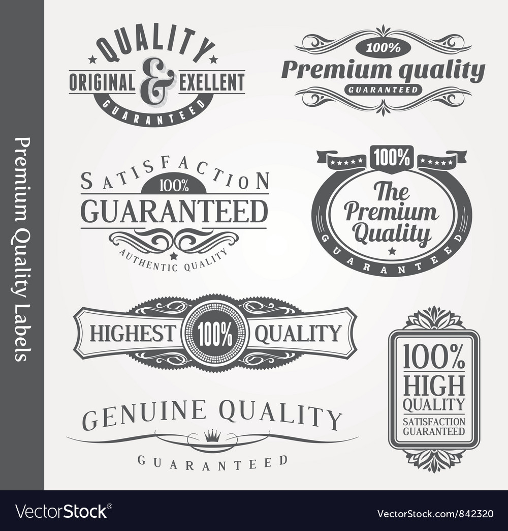 Ornate emblems of quality