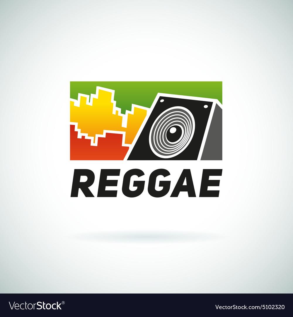 Reggae music equalizer sound logo emblem