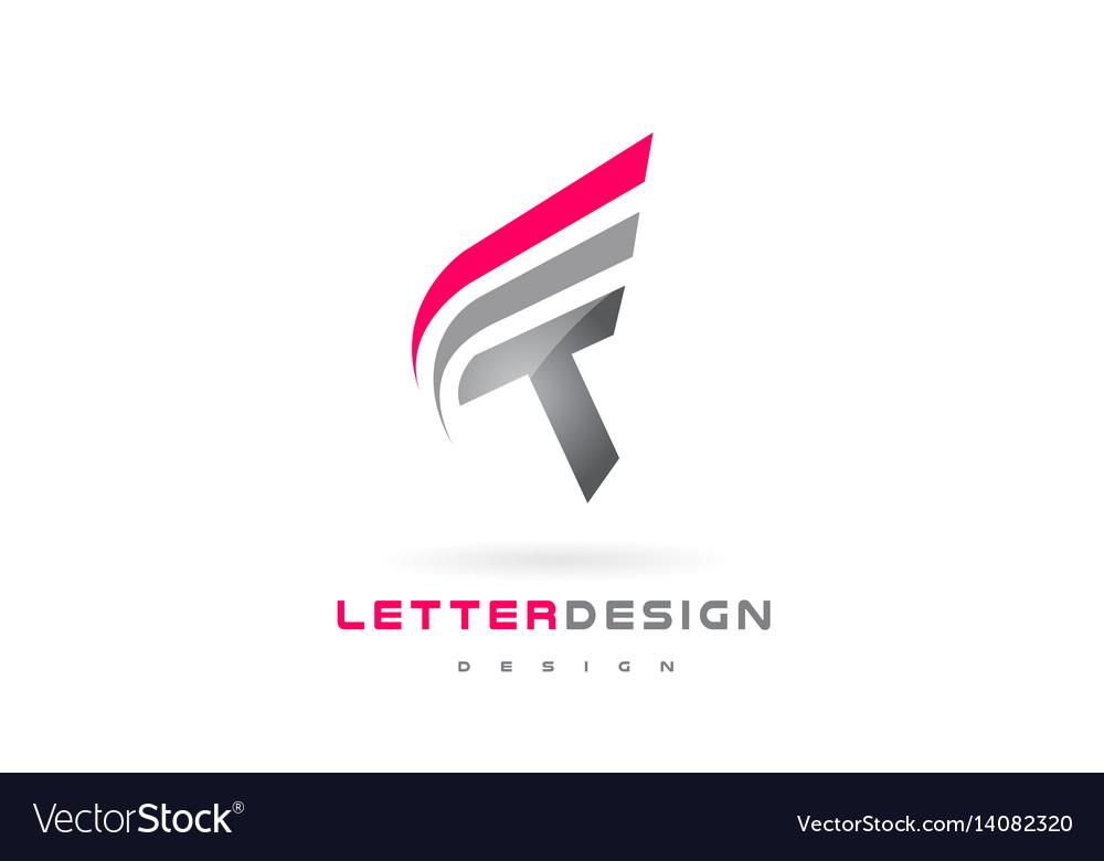 T letter logo design futuristic modern lettering