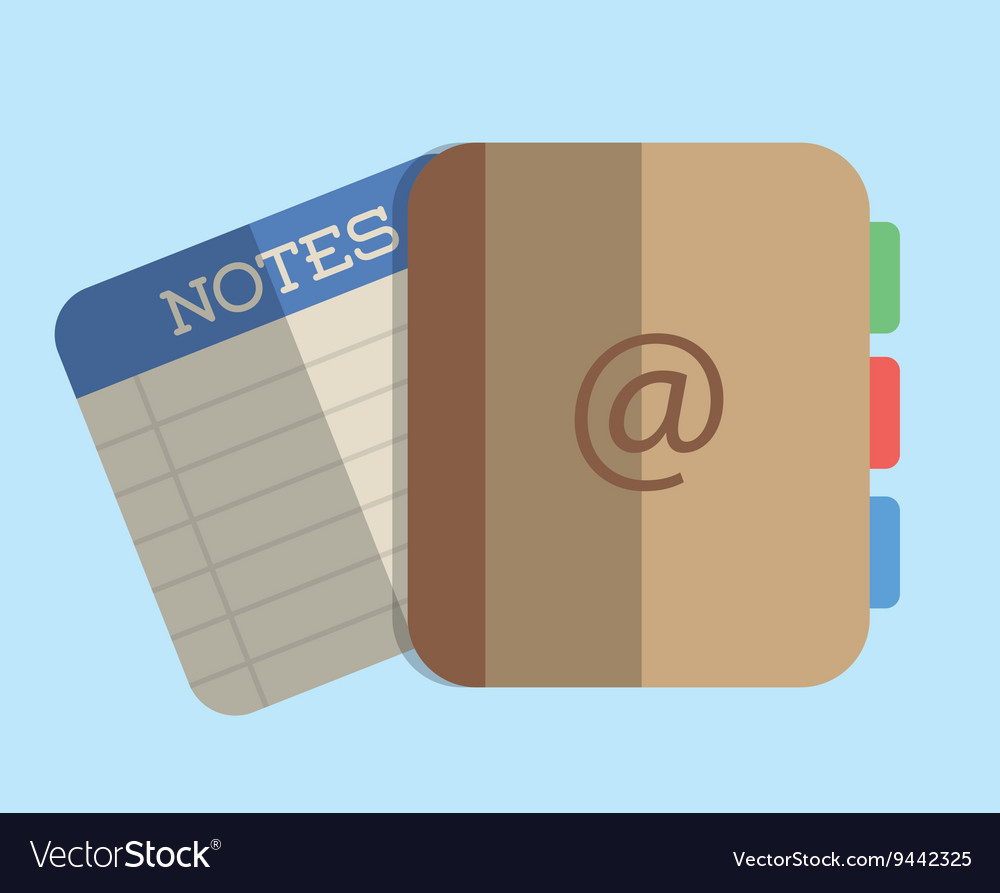 Agend design Notes icon graphic Royalty Free Vector Image