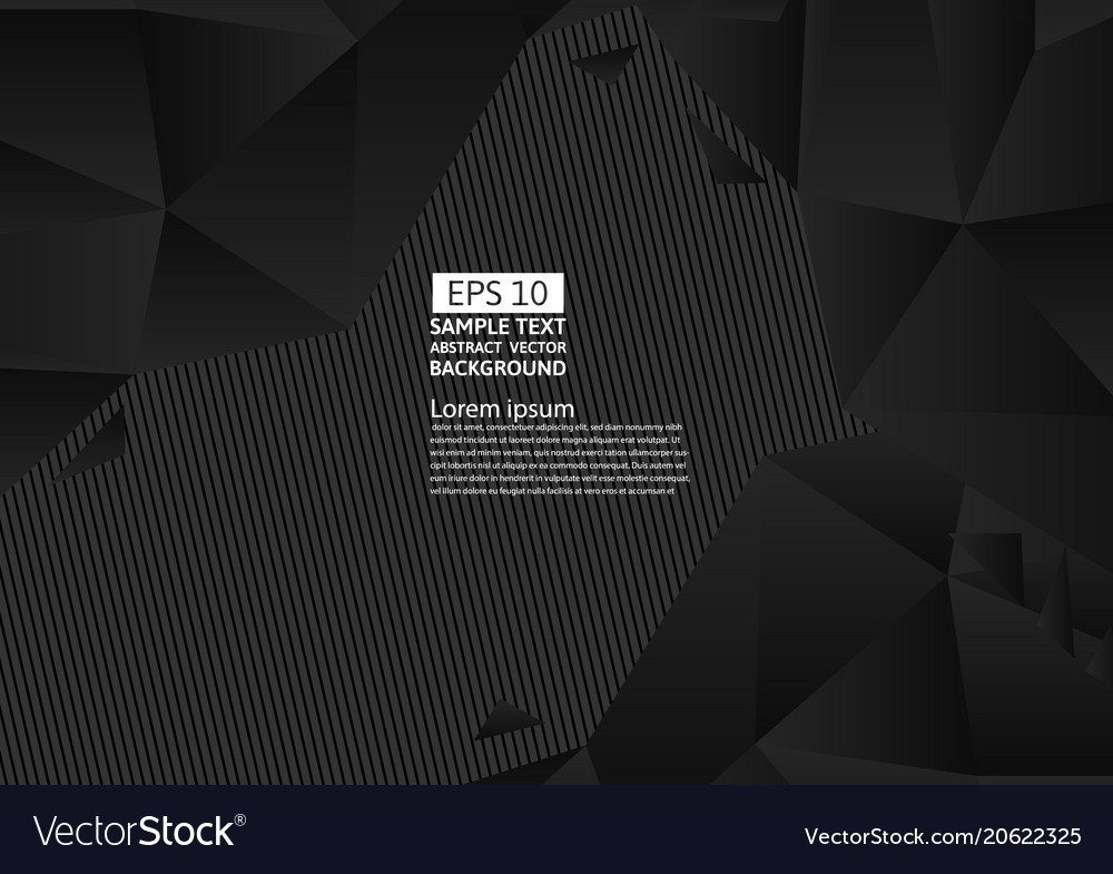 Black and yellow color polygon abstract