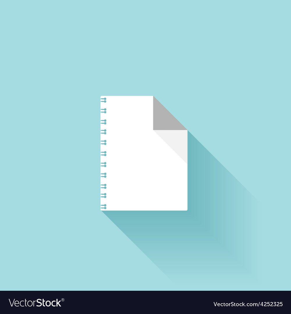 Flat paper sheet icon with shadow