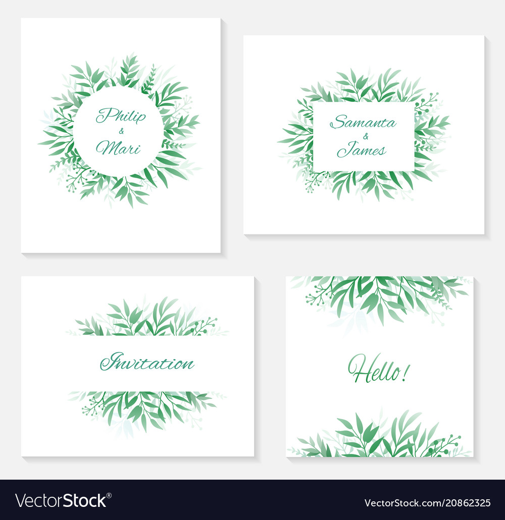 Set frames and invitations with branches