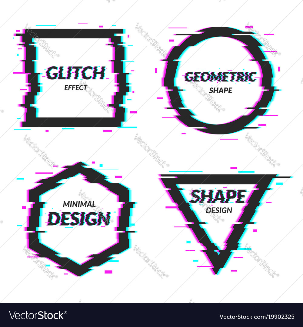 Set of abstract minimal template design in
