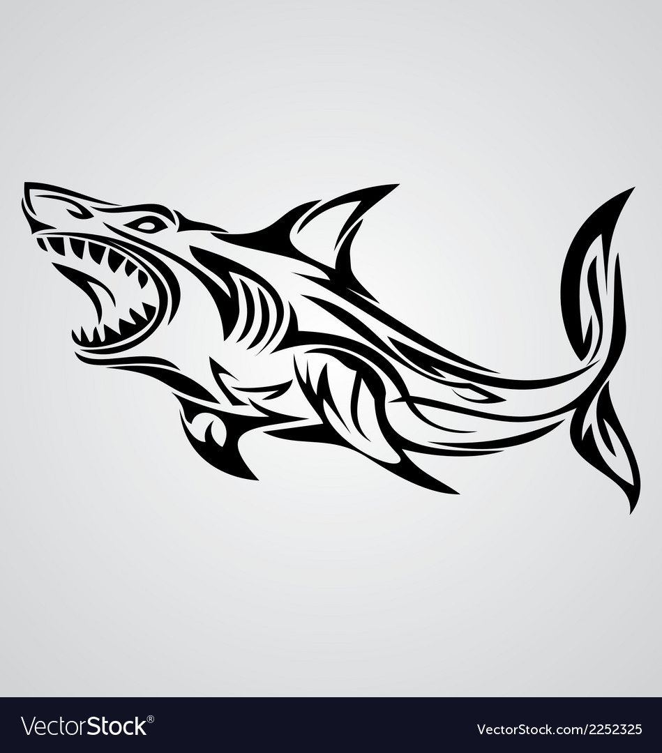 5f669df99 Tribal, Shark, Tattoo & Sea Vector Images (59)
