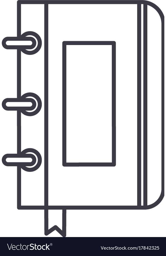 Sketchbooknotebook line icon sign