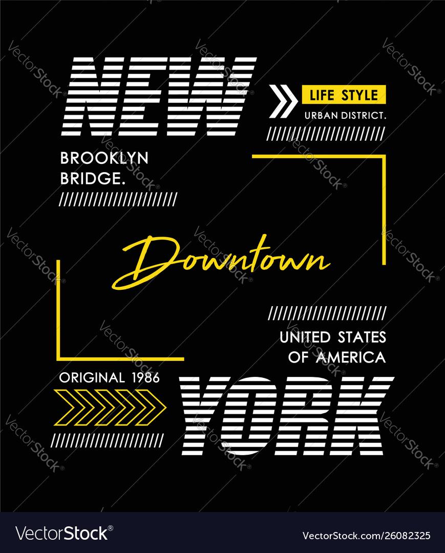 Typography new york usa style
